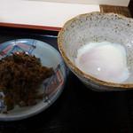 とまと庵 - 高菜漬けには昆布やかつお節が和えられていて旨みがアップしています