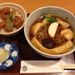 34139588 - おかめ蕎麦&ミニ天丼