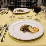 オーシャンテラス - グラスワイン600円+税と前菜