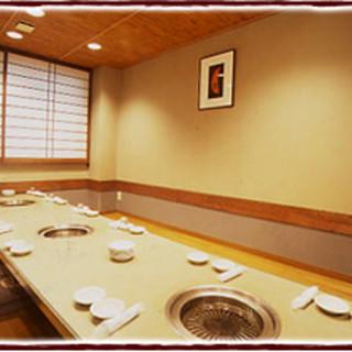宴会個室:用途に応じて使い分けられる個室