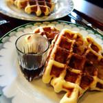 ポラリス - 料理写真:アップルワッフル