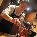 韓国郷土料理 ととり - デジかルビをお兄さんが焼いてくれました