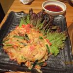 韓国郷土料理 ととり - かにたまねぎちぢみ
