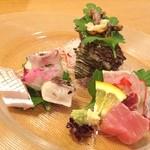 日本料理 花篝 - 料理写真:御祝いのお造り٩(๑♥ڡ♥๑)۶