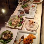 セットセッテ - 前菜のワゴン