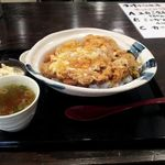炭焼酒場 つけ蕎麦 力屋 - 12/03/31 メガ盛りかつ丼1,180円
