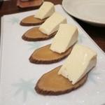 34147945 - いぶりがっこのカマンベールチーズのせ