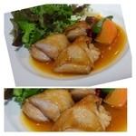 シュエット - 華味鶏のエストラゴンソース・・・肉質は普通らしいですが、ソースが美味しいという感想でした。