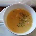 ガッティーノ - ハンバーグランチのスープ