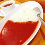 CAFE NORTE Sapporo - 北海道米使用のかみふらの赤カリーは豆がたくさん♪ お米がおいしい(^ ^)
