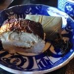 柿千 - 壱ノ膳ランチ(1080円)鮭柿の葉寿司と焼鯖の押し寿司