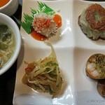 34157521 - 満福点心_前菜と韮饅頭と春巻き