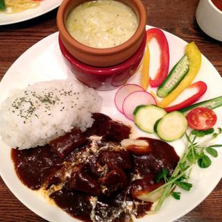 カフェ ランドスケープ - デミグラ牛タンランチ ¥1,200