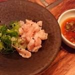 Kankokuanjupontochourinanha - 上ミノのお刺身 辛子ポン酢 730円