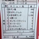 焼肉とうげん - 伝票