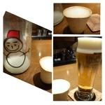 34165740 - 本日の「ゴリ押し酒(350円)」は「雪だるま」という濁り酒。度数は13度ですがそれより強く感じます。                       純米大吟醸の「活性にごり酒」だそうですよ。