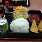 あさチャン - 2種ミックスちょい弁当(だし巻き+ハンバーグ)