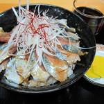 さんまんま魚政 - さんまぶっかけ丼(550円)