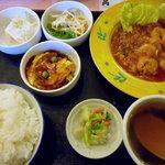 鳳蘭 - エビチリソース定食
