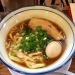34172076 - 讃岐レトロ醤油ラーメン太麺大盛+煮卵
