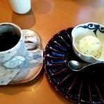 花三昧 - キウイのアイス、コーヒー