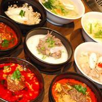 朝鮮飯店 - 店内で手作りのスープ。好みの味に調節もできます!ミニもあります。