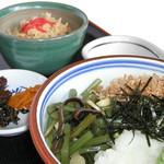 花水木 - 山菜そばセット