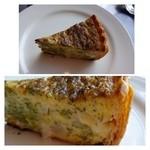 ロティスリー カルトポスタル - 蕪とブロッコリーのキッシュ・・パイ生地がサクサクで美味しいこと。 フィリングも丁寧に作られいいお味です。