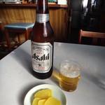 広野屋 - ビールとお通し(?)