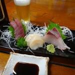 寿司ショップ彩 - 刺身3点盛り
