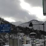 34201824 - 国道118号線沿いの雪景色