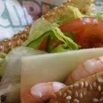 34203052 - セサミパン アボカドべジー海老&チーズスライストッピング