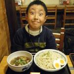 庵 - 庵特製醤油つけ麺2玉