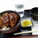 吉備サービスエリア(下り線)スナックコーナー - 2015.1.13 デミカツ丼730円