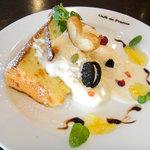 Cafe de 佛蘭西 - シフォンケーキ 特別バージョン(お祝いの時などに。)