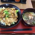 どんどこ - 料理写真:養老豚丼と小きしめん800円