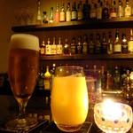 Fooding Bar Ruelle堂山 - キリンラガー生ビール:600円