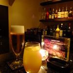 Fooding Bar Ruelle堂山 - キリンラガー生ビール:600円+カシスオレンジ