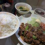 王鳳 - 牛焼肉定食 +ご飯大盛り