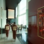 日本料理 「風花」 - 墨絵をモチーフに蔵をモダンに表現した店内