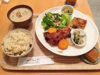 畑の食堂 ナチュラ - ナチュラの日替わり御飯950円♪