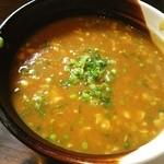 麺酒房 実之和 - カレーつけ麺のつけ汁❤スパイちぃ~♪
