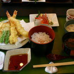 和風レストラン こうらく - 毎月10日は、天麩羅の日 天ぷらランチ1,050円(通常1,550円)