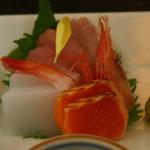 和風レストラン こうらく - 天ぷらランチ1,050円のお造り
