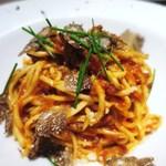 イルバンボリーノ - 秋トリュフと牛ひき肉のミートソース、 自家製タリオリーニ