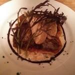 34227094 - 的鯛のソテー フランス産ポルチーニのリゾット 海老芋のフライ添え