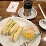 珈琲家あさぬま - エッグトースト、アイスコーヒー