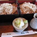 松作 - 料理写真:つるべそば(もり)2枚