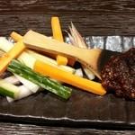 34231976 - そば味噌 野菜スティック