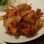 鶏専門店 食彩 Ks Har - 日替わり(ポークチャップ) 750円 料理が酷すぎ ほとんど玉葱!